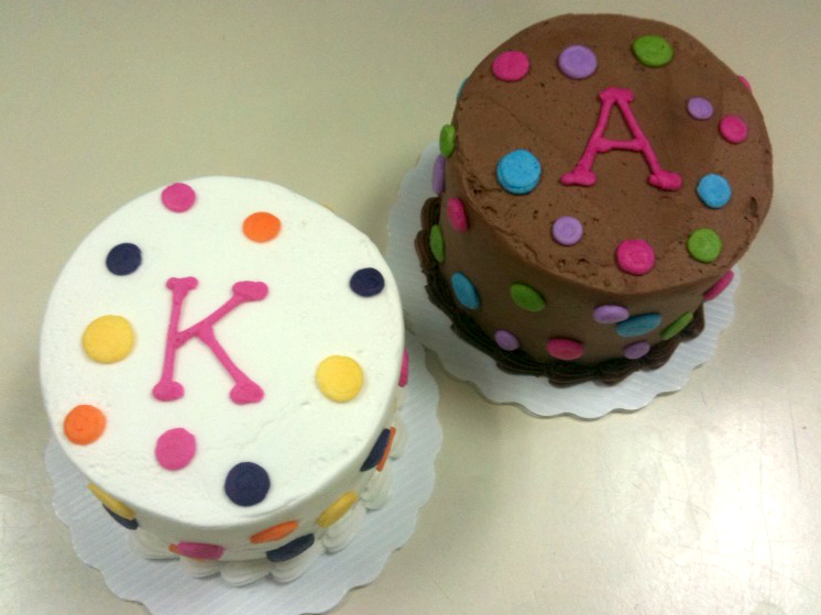 Initials with Polka Dots