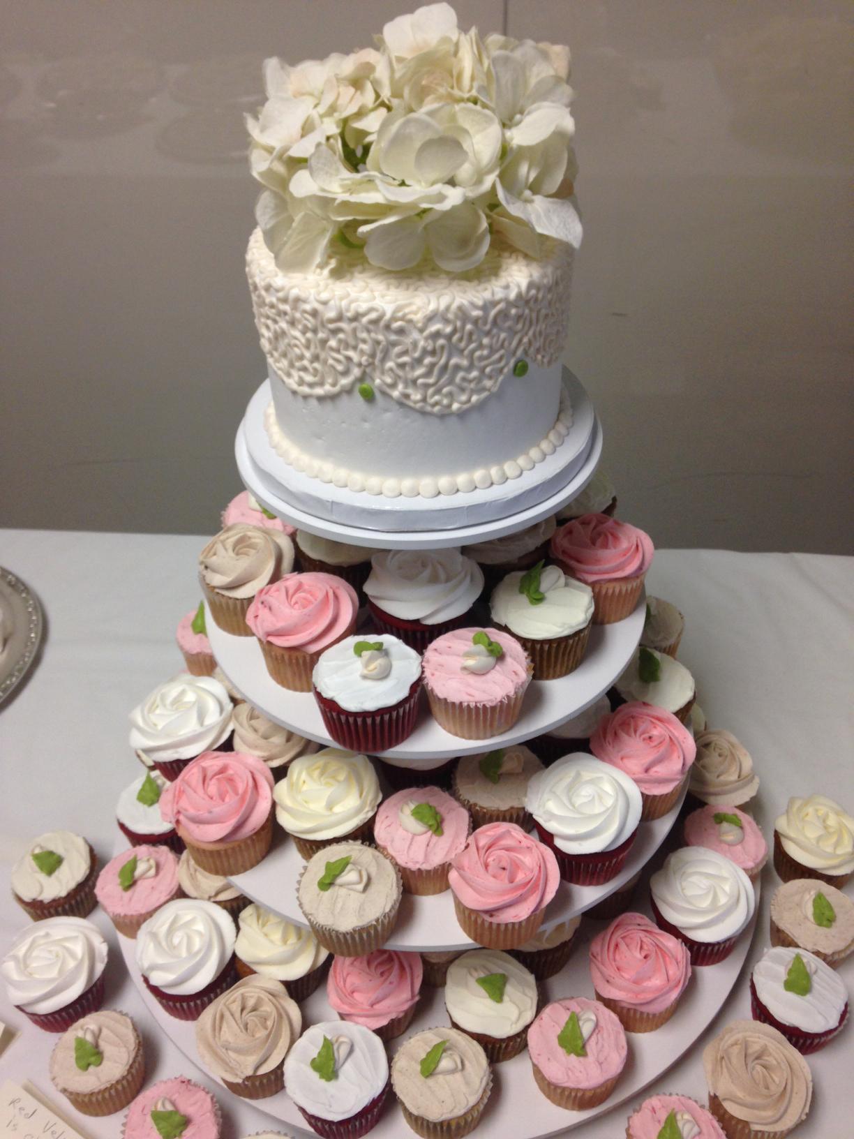 Wedding Flower Cupcakes