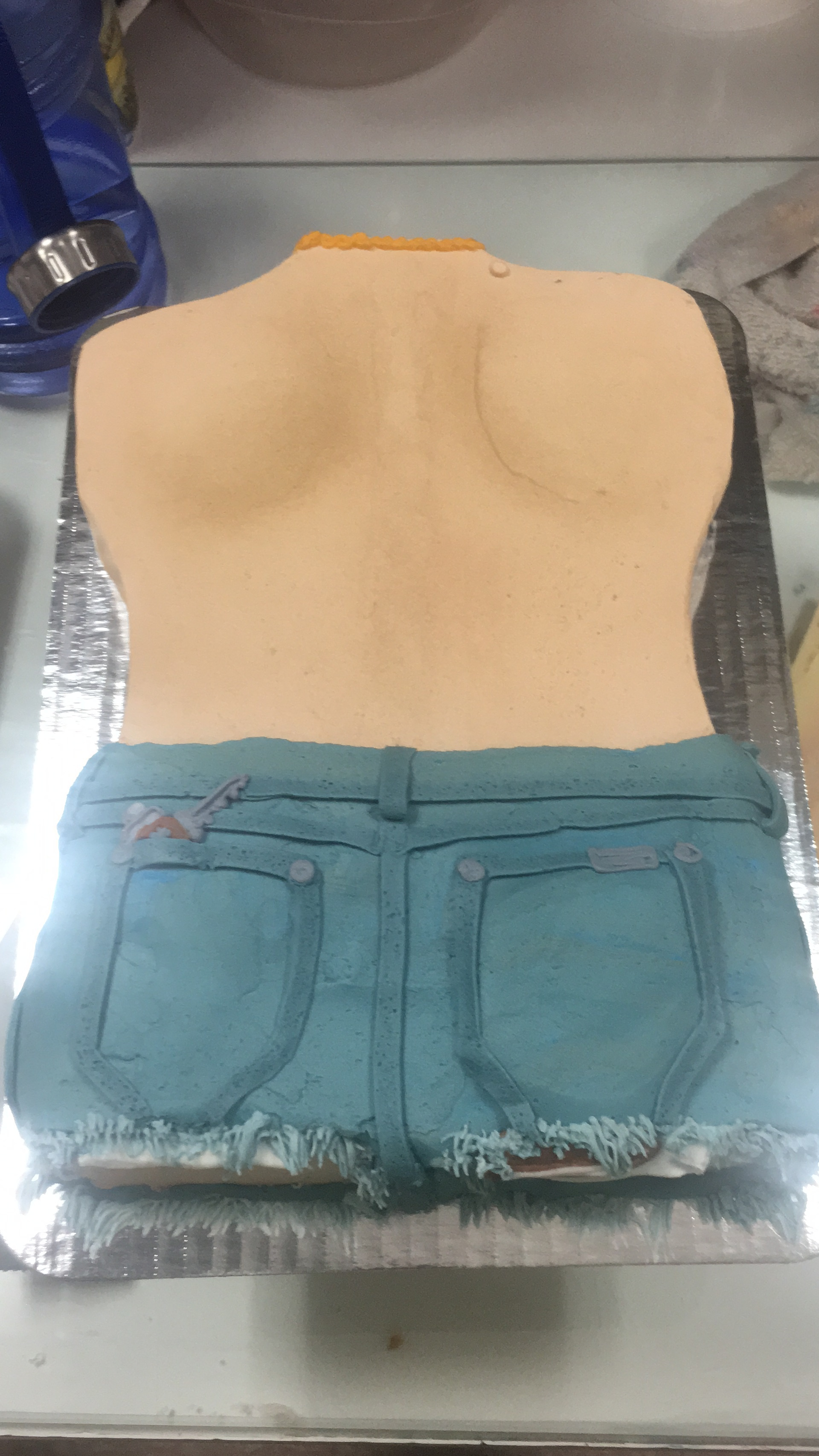 Male Behind Torso Cake