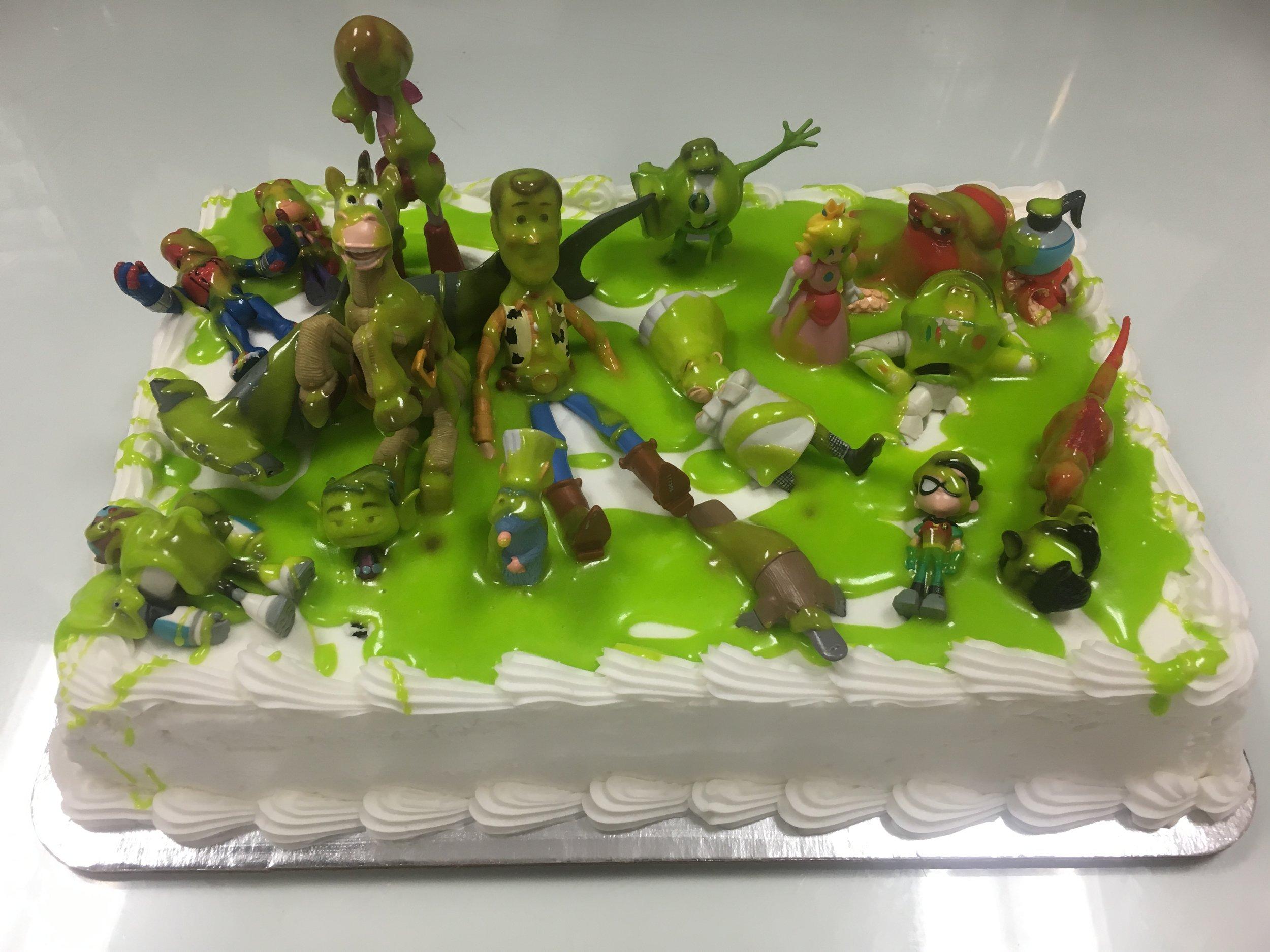 Green Slime Cake