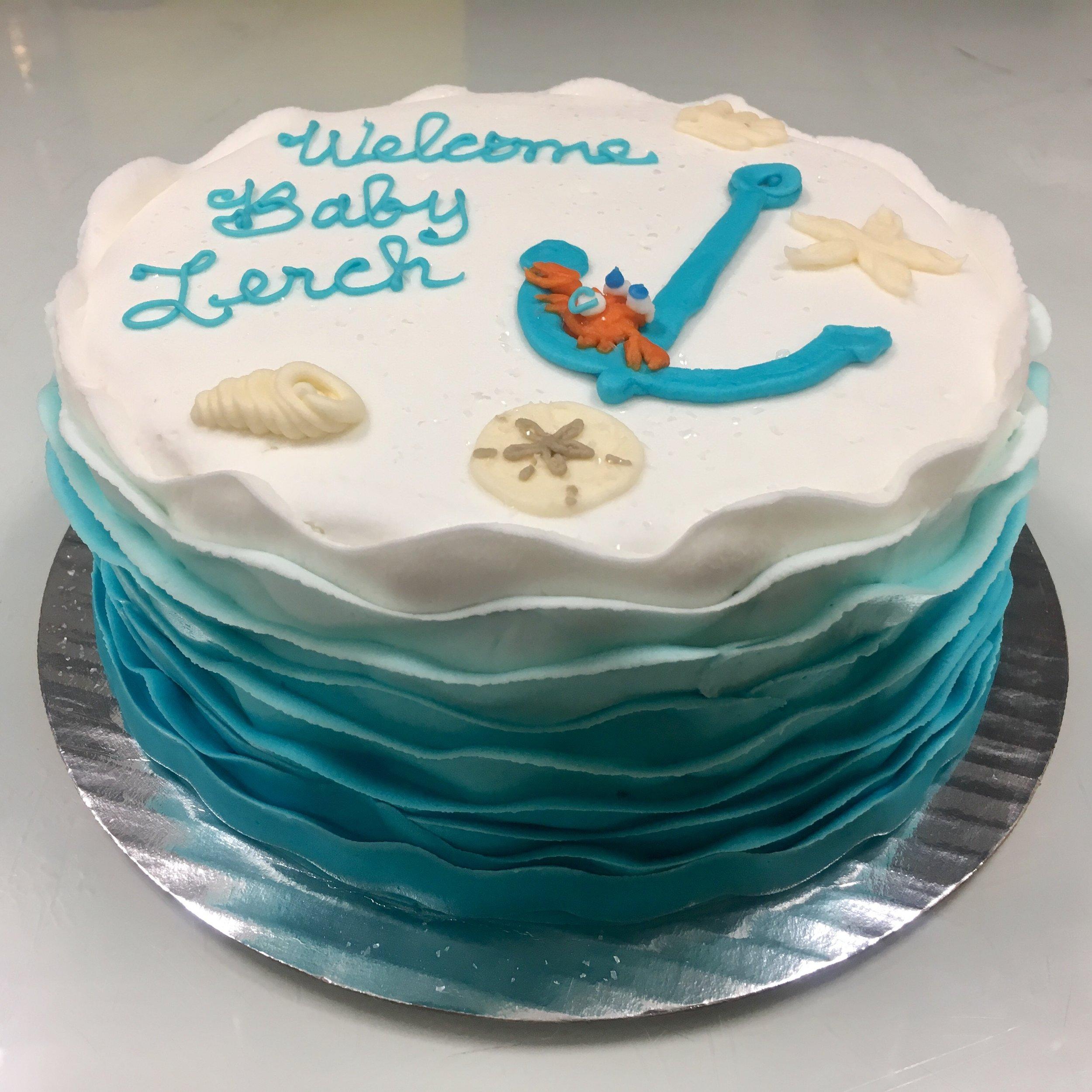 Beach Waves Baby Cake