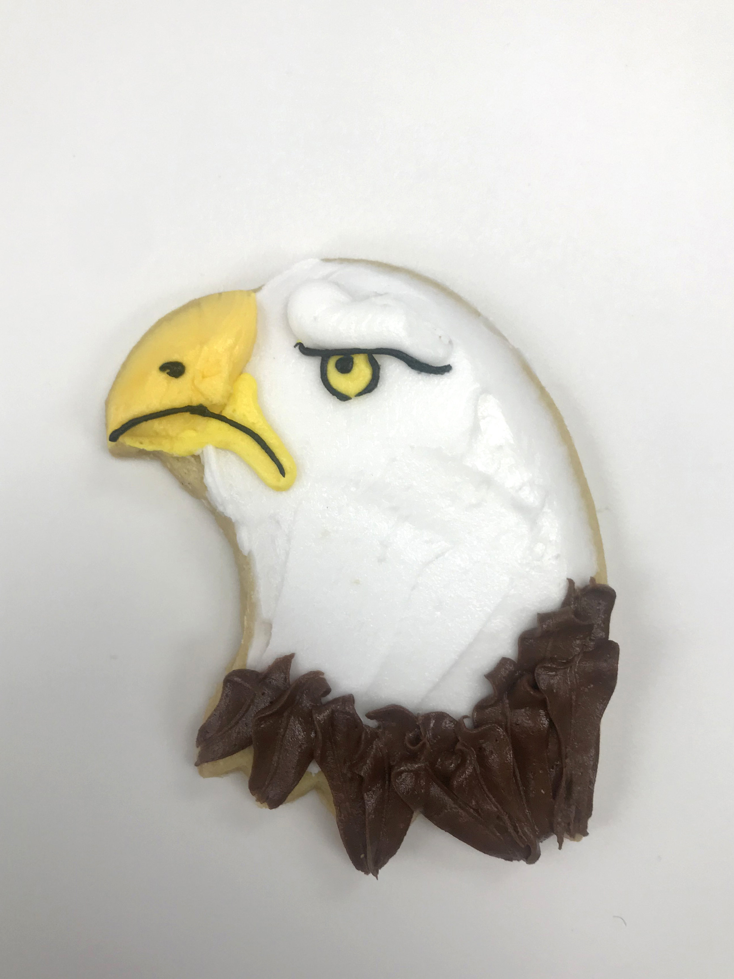 Bald Eagle Cutout Cookie
