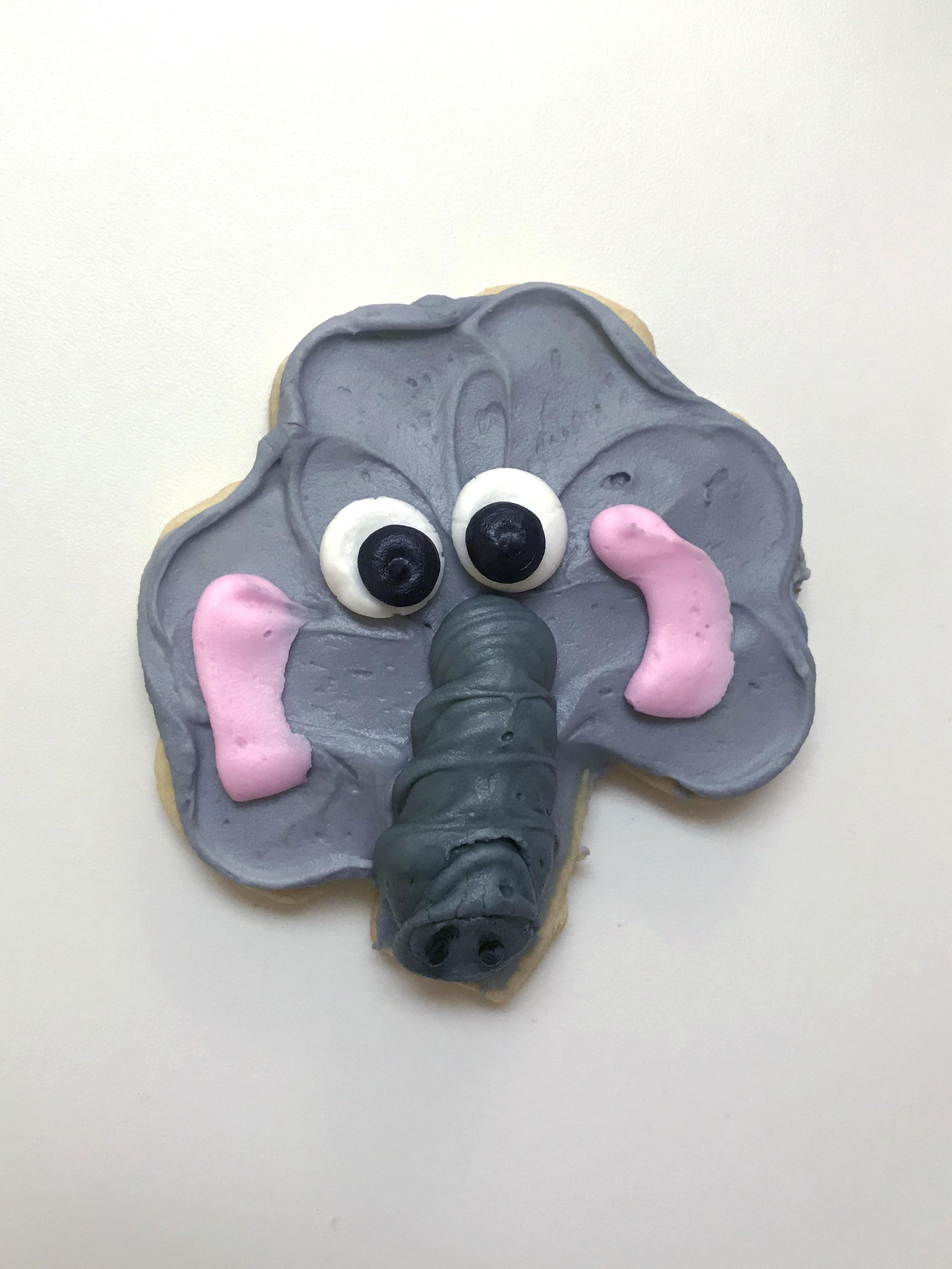 Elephant Cutout Cookie