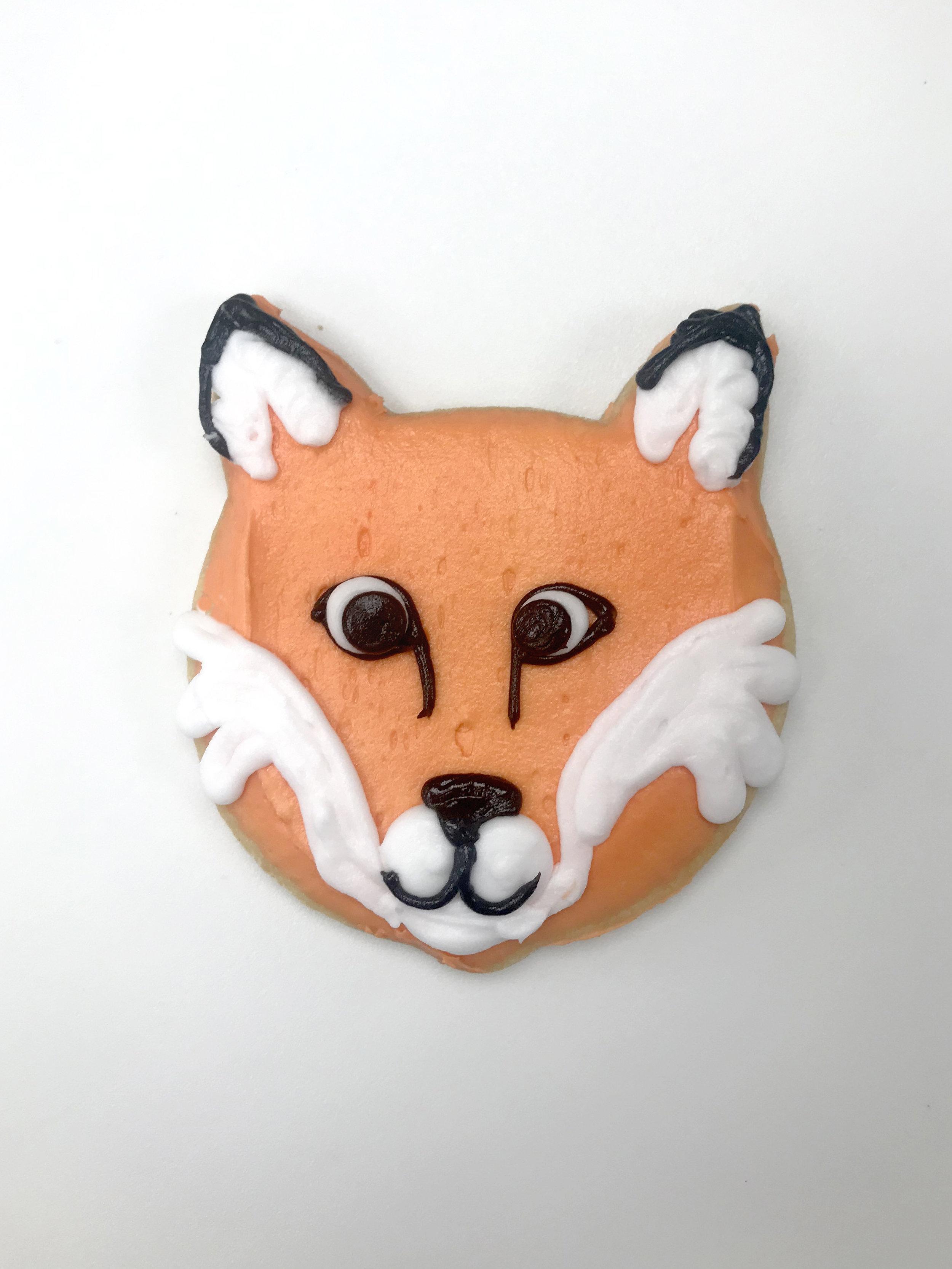 Fox Cutout Cookie