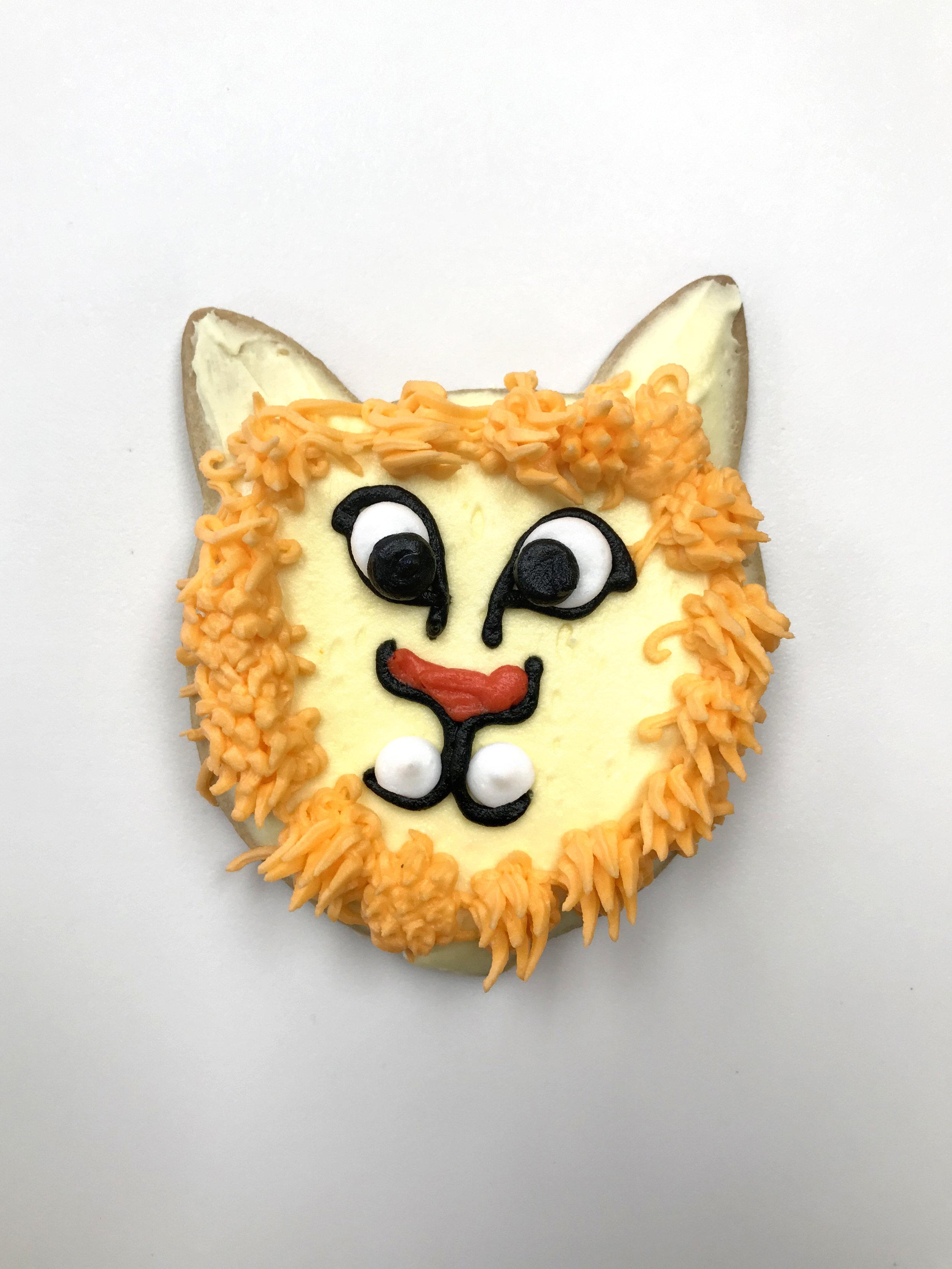 Lion Cutout Cookie