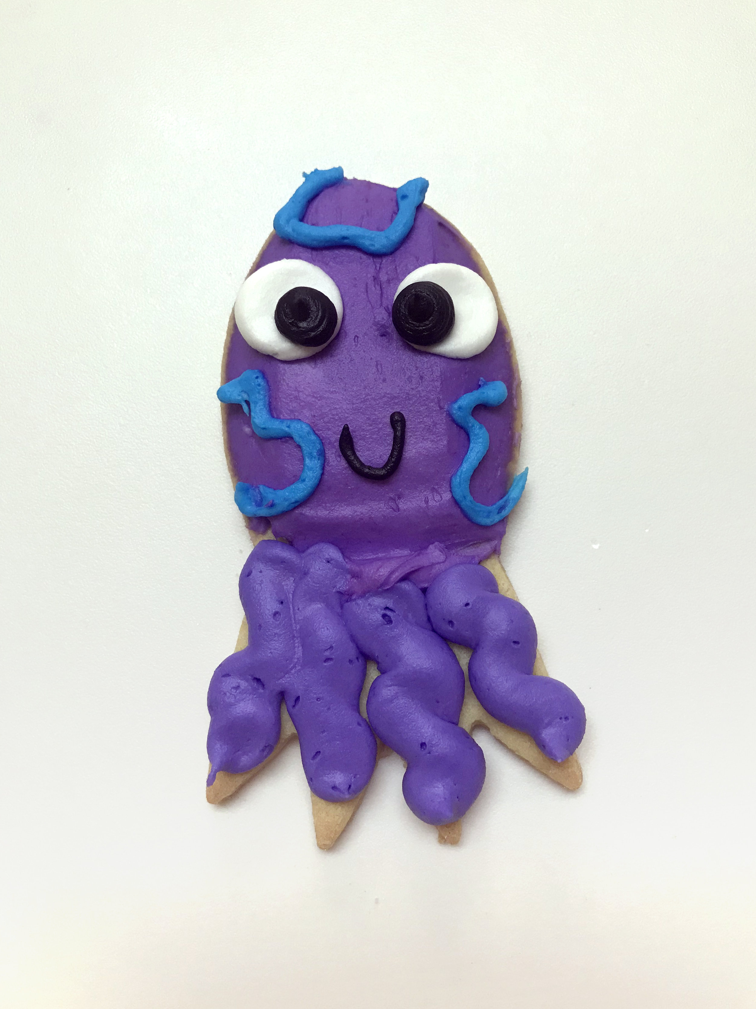 Octopus Cutout Cookie