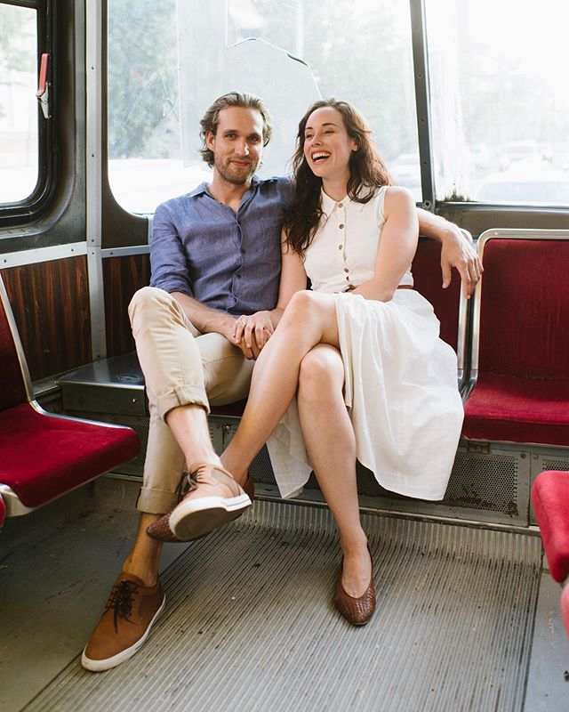 I love our old street cars in Toronto, I want to take as many photos on these before they phase them out completely. Anyone want to hop on one with me for a shoot? . One more week until @victorypatterns & @timonwientzek's wedding, I can't wait! I get to dress up and be a guest for once and the wonderful @_melissasung will be documenting their day! . #celinekimphotography #toronto #torontostreetcar #engagementphotos #nikon #torontoengagement #cantwait