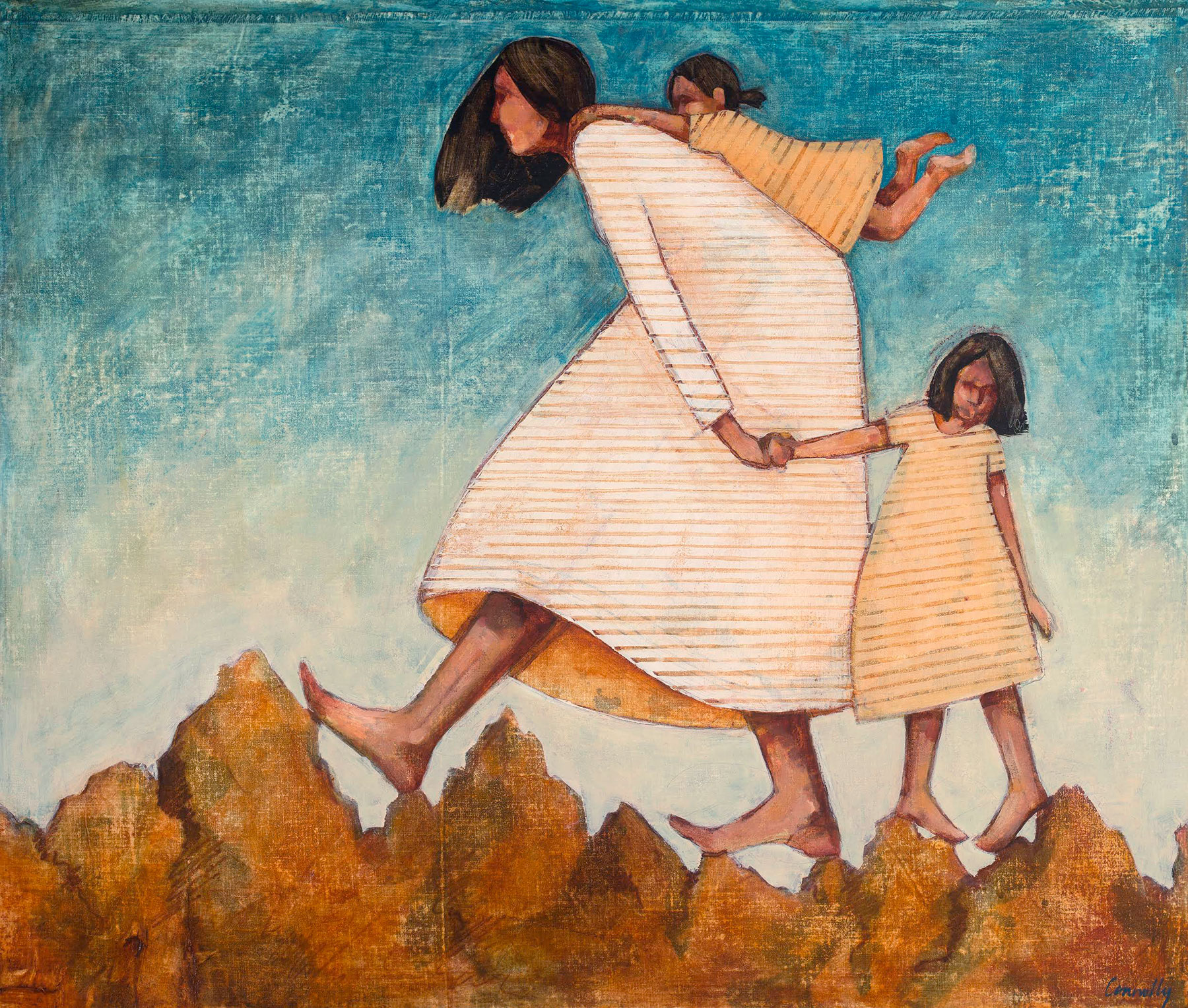 climbing mountains with children