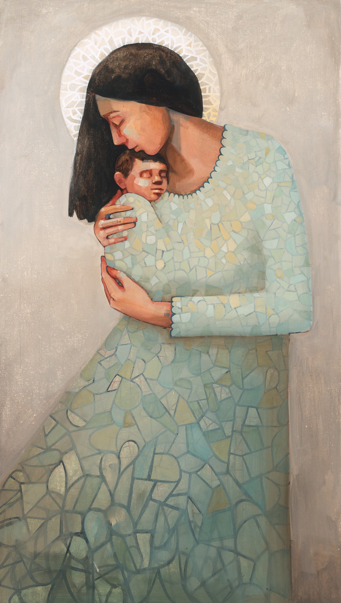 """a piece of me 48x22"""" oil on panel"""