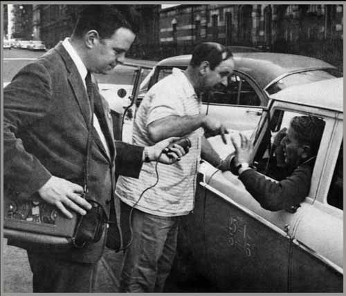 """Interviewing the cabbie who said, """"That's my opinion and it's very true."""" during his NY radio shows."""