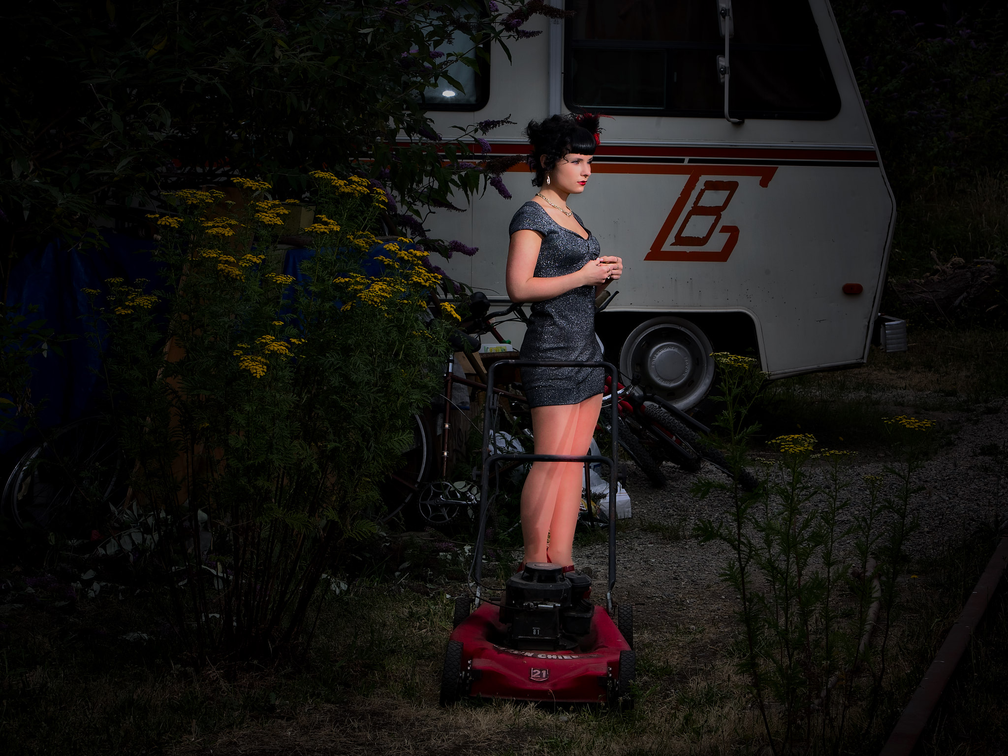 Brunette Outside w Lawnmower.jpg