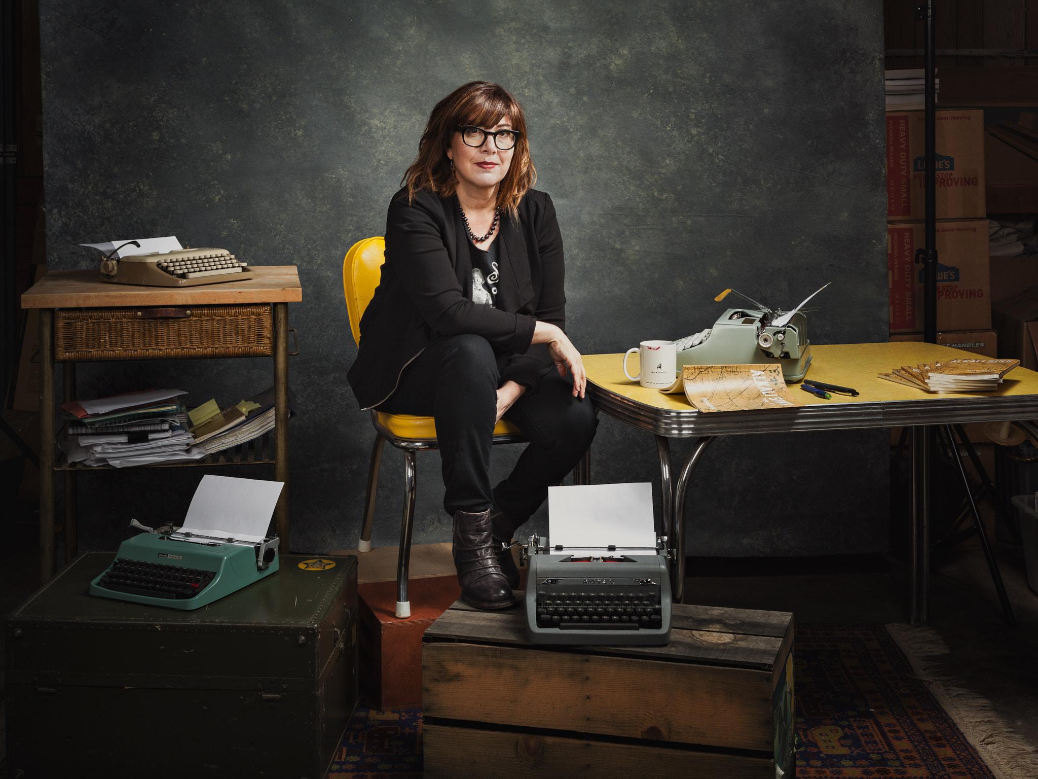 Stella with Typewriters.jpg