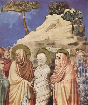 The Raising of Lazarus by Giotto