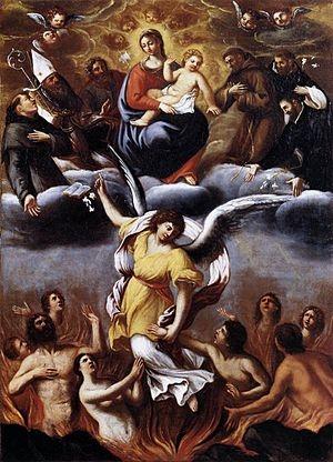 Purgatory  by Ludovico Carracci