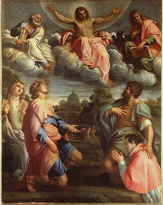 Christ in Glory  by Annibale Carracci