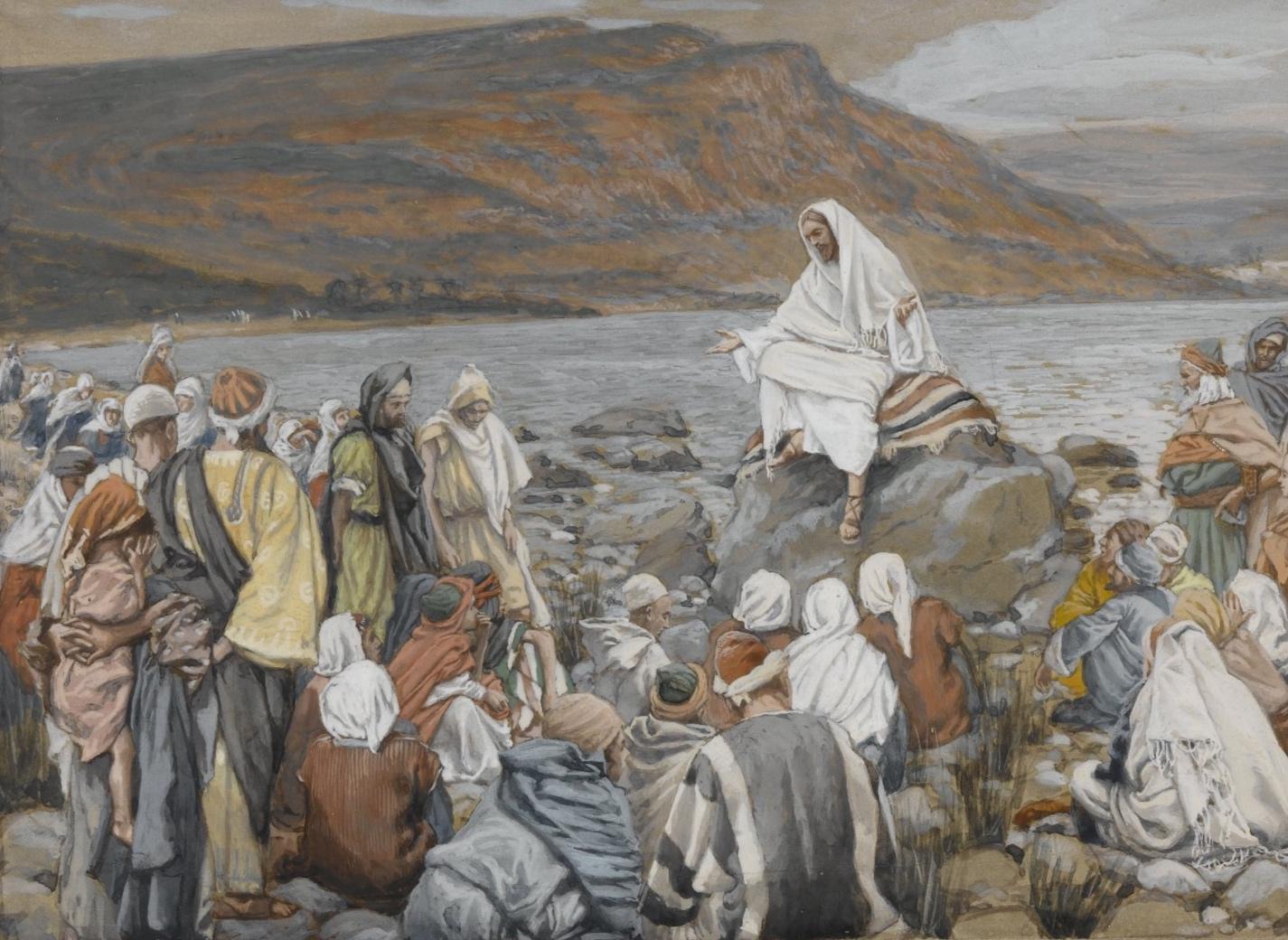 James Tissot,  Jesus and His Disciples