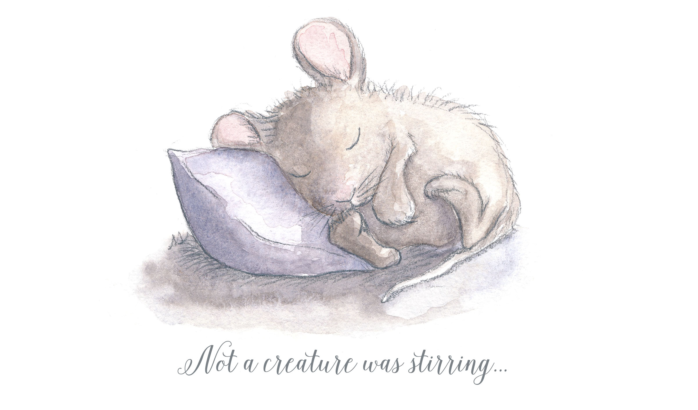 drawingsarah.com | Christmas mouse