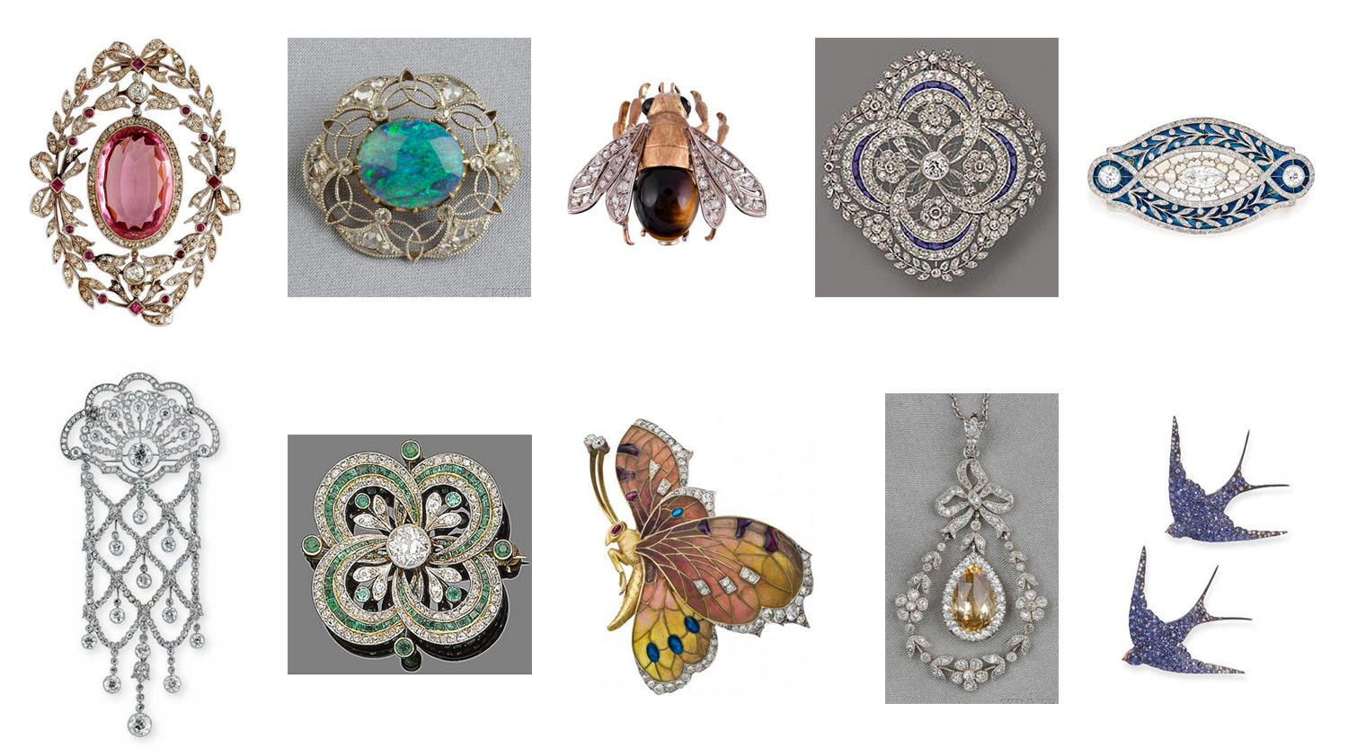 Edwardian brooches can all be found with a quick search on Pinterest.