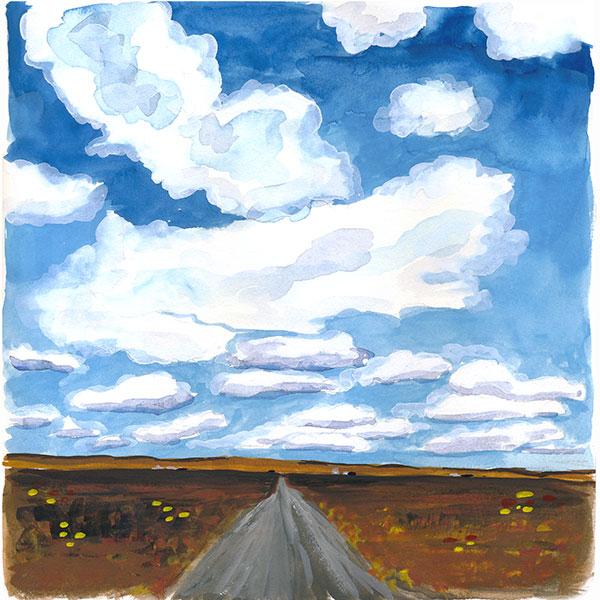 62/365 - landscape, gouache in sketchbook