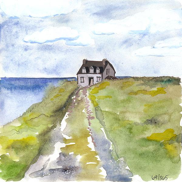 69/365 - watercolor, pencil, gouache
