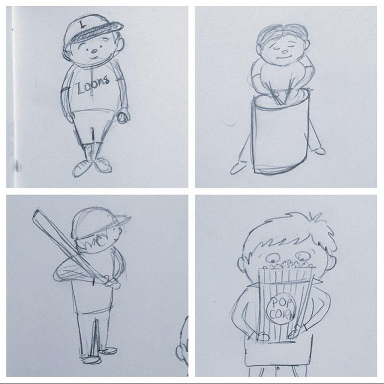 157/365 - sketches at a baseball game