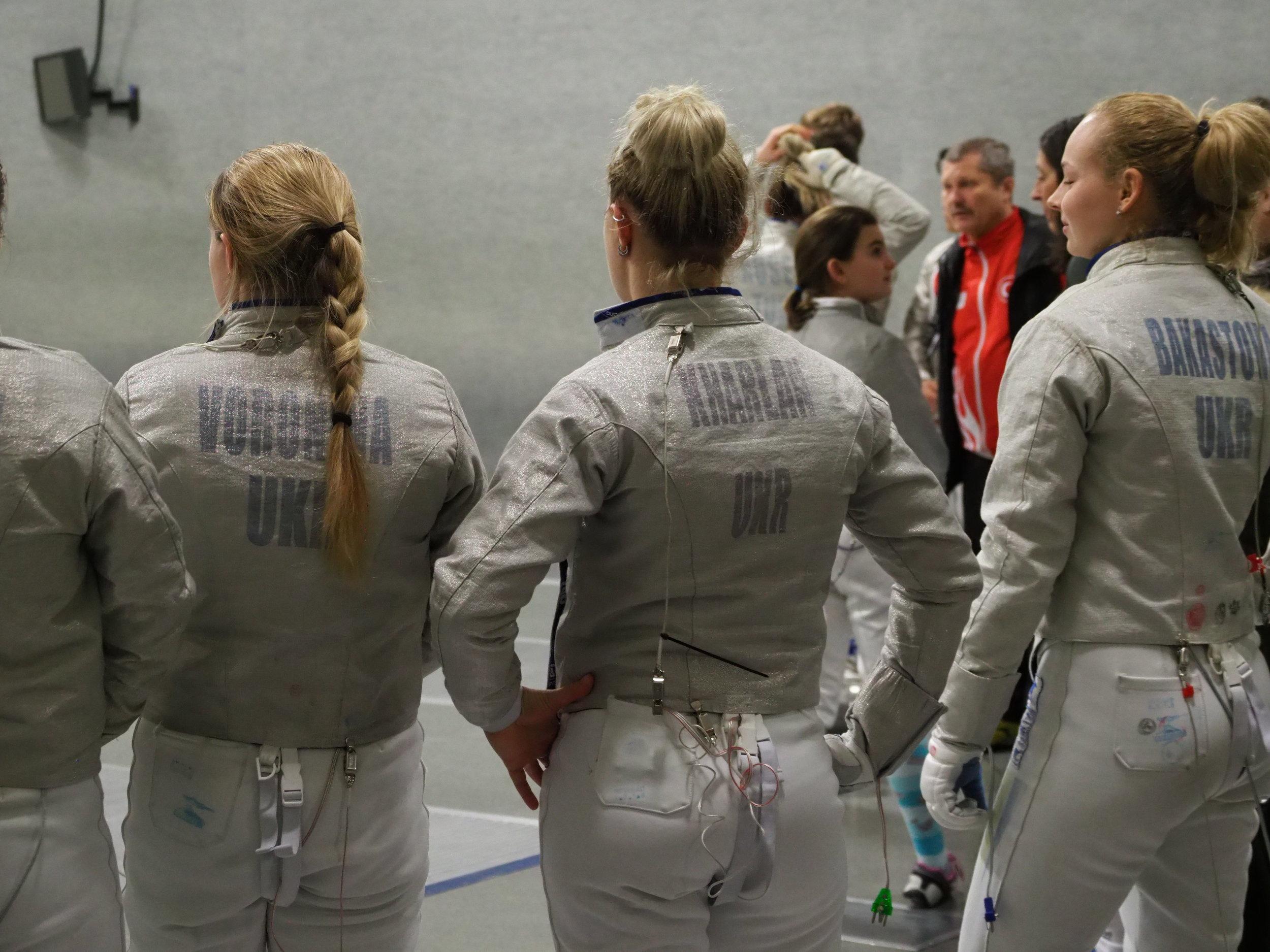 Three-time World Champion Olga Kharlan was among the fencers at the OFA Progressive.