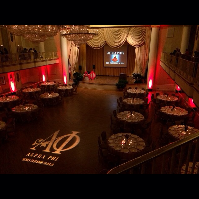 The Bellevue is very red tonight for the SJU Alpha Phi Red Dress Gala #mycsevent #sju #philly #bellevue #alphaphi