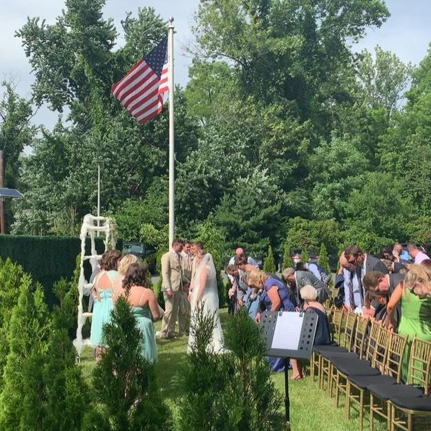 Congrats Becky and Rob @centerstageent @sensationalhost @marian_house_events #njweddings #weddingdj