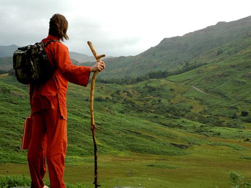 Barefoot Lone Pilgrim