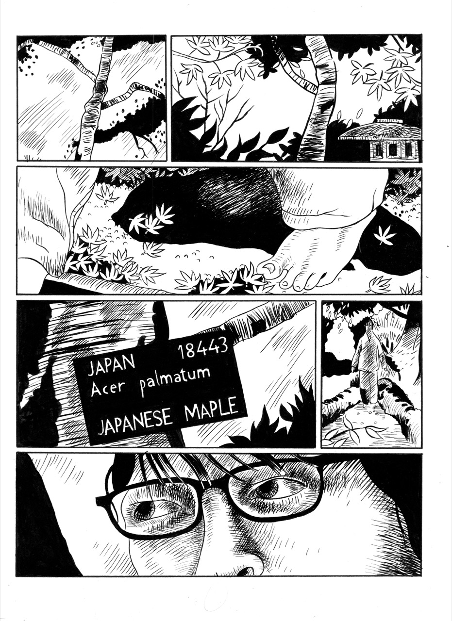 Image: Details from The Way of the Barefoot Pilgrim: Samuraistory written by David Blandy, illustration by Daniel Locke 2008, 32 page A6 comic, 2008. Courtesy of the Artist.