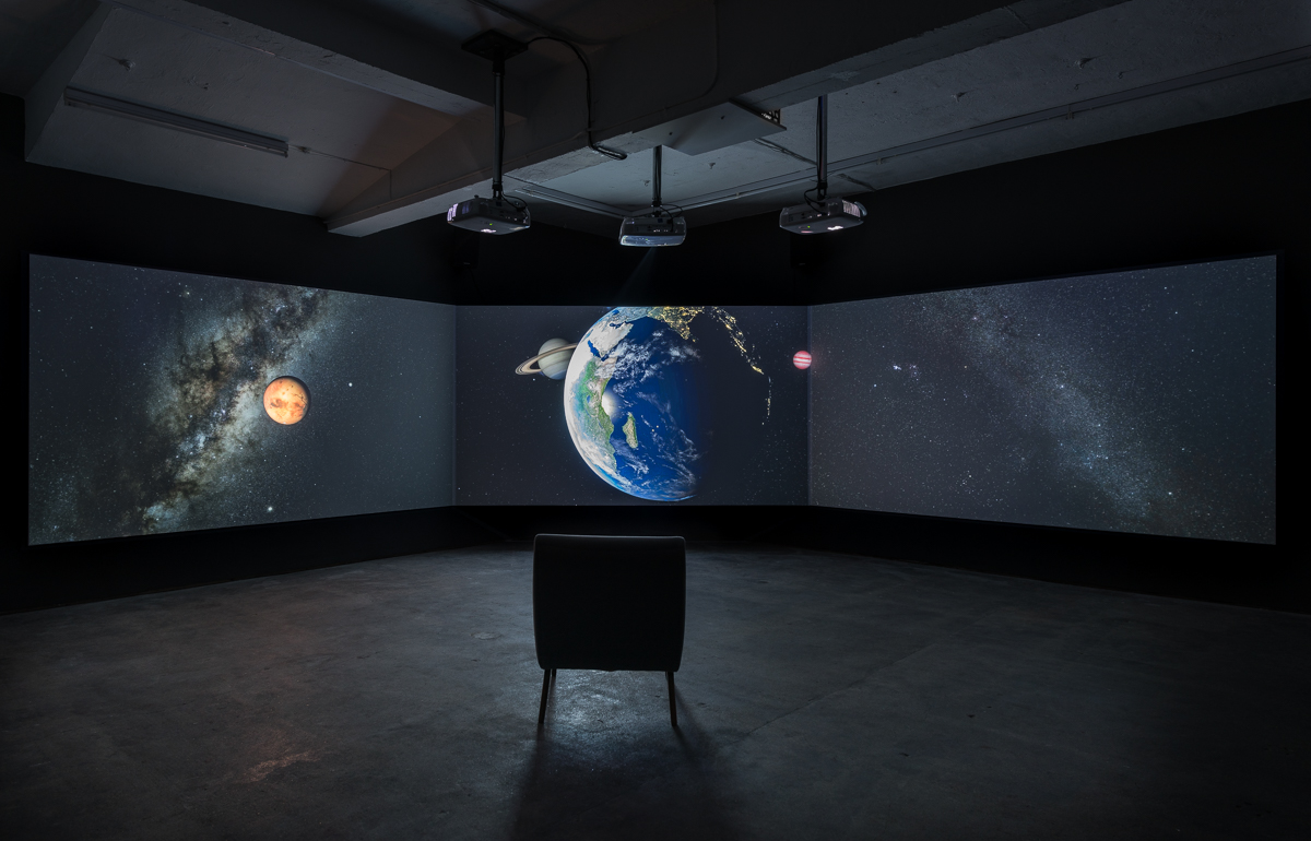 Installation view:  The End of the World,  2017 David Blandy Image: Damian Griffiths