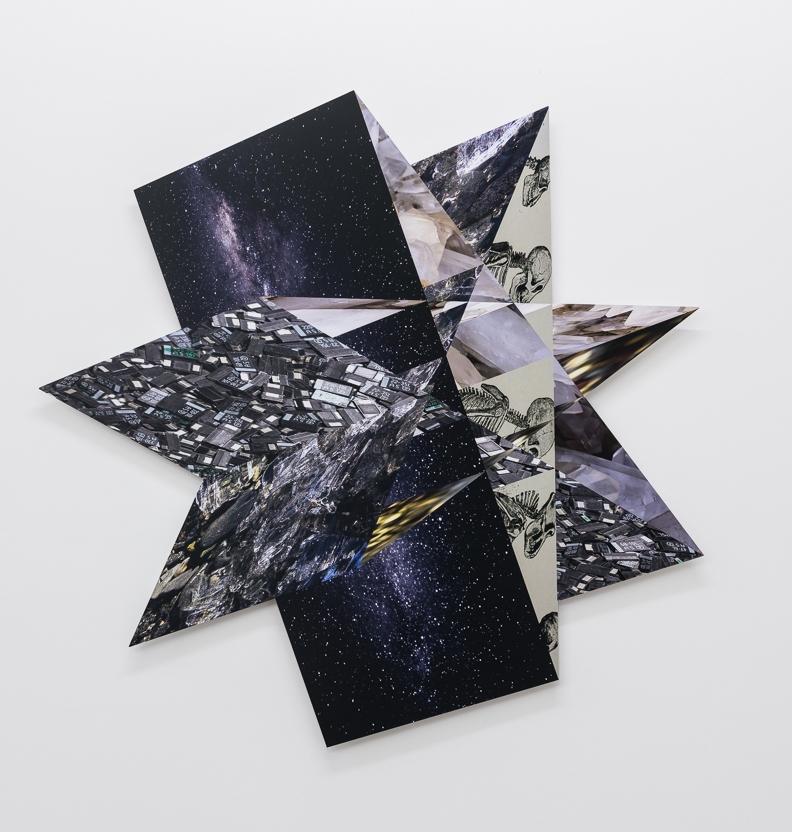 Black Star,  2017 C-print on aluminium 100 x 105 cm Unique