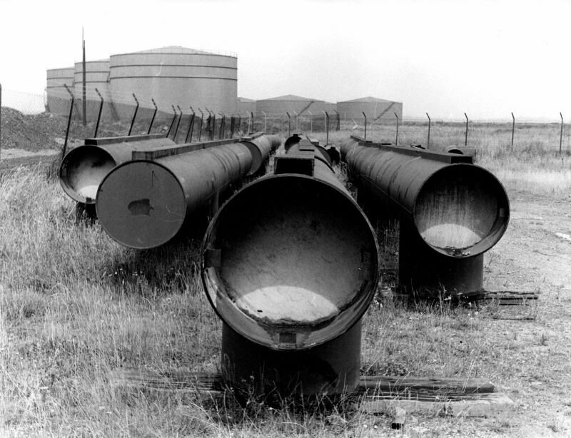 Pipes waiting to be removed. (Echo Newsapers).jpg