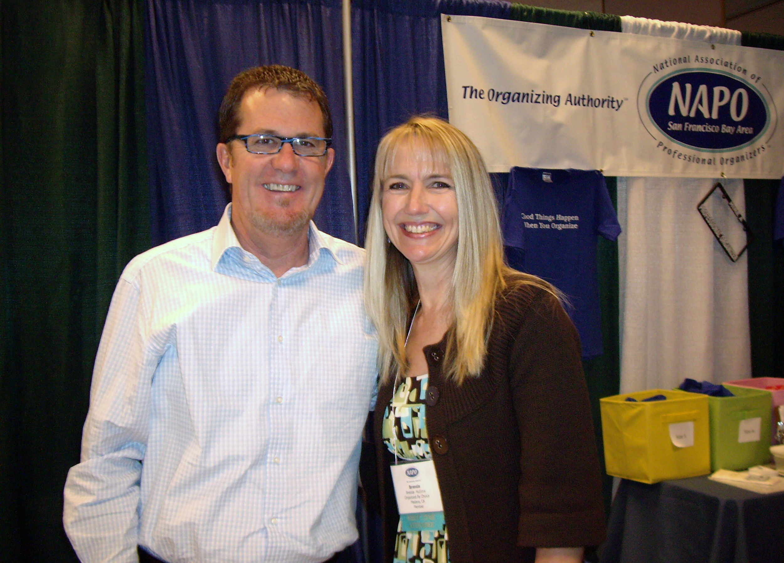 Brenda with Peter Walsh, author of  It's All Too Much !