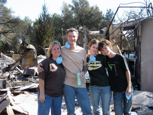 Smiles amidst the rubble.