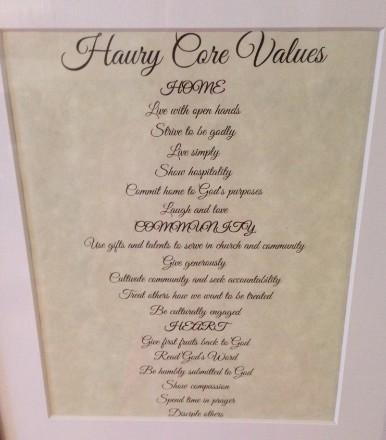 Family Core Values