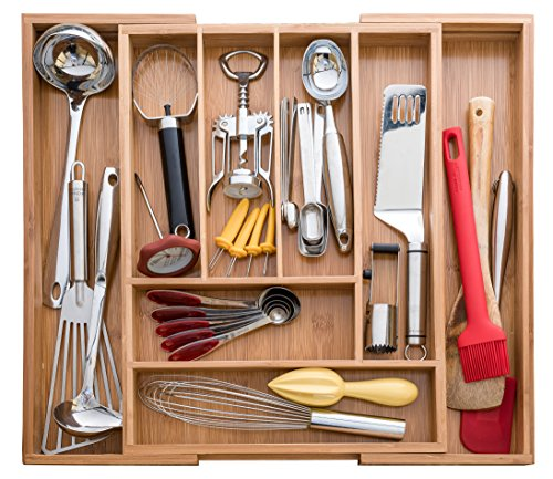 A cutlery and utensil drawer organizer allows you to group like items and see what you have.