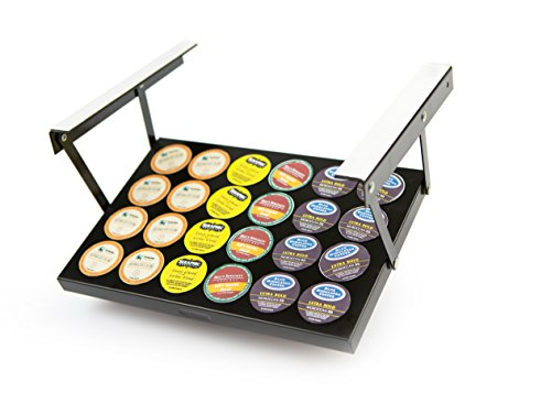 Under cabinet organizers include K-cup holders, cookbook and iPad holders, knife block holders, and more standard items like can openers and coffee makers. These all help keep your counters clear.
