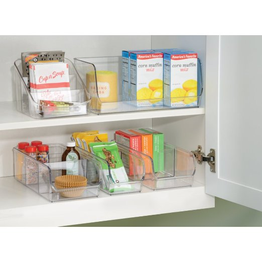Containerizing items in your fridge, freezer, and cabinets makes your kitchen a happier place!