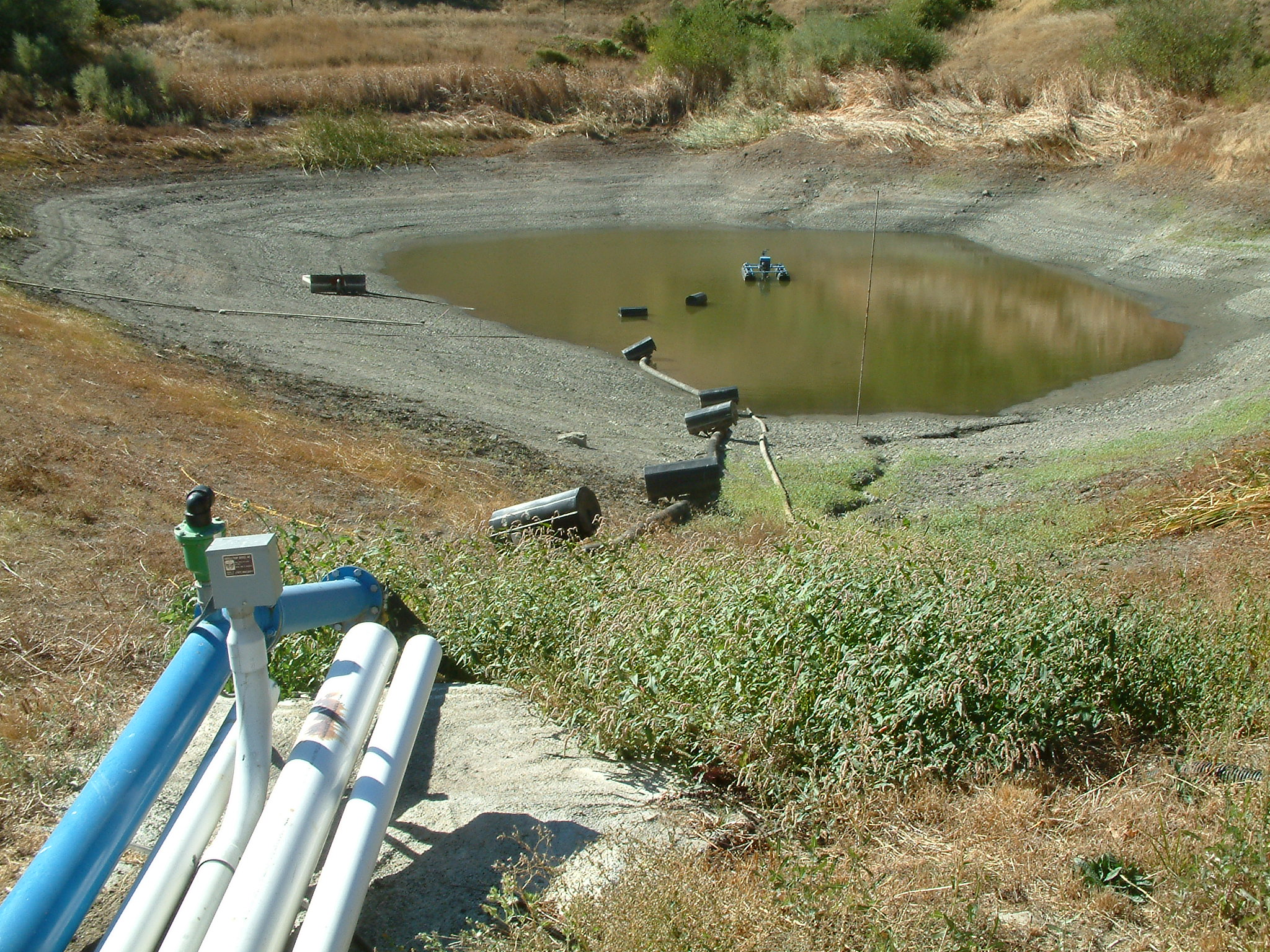 Pond Pumping System for Irrigation and Frost Protection for Vinyards above the Napa Valley