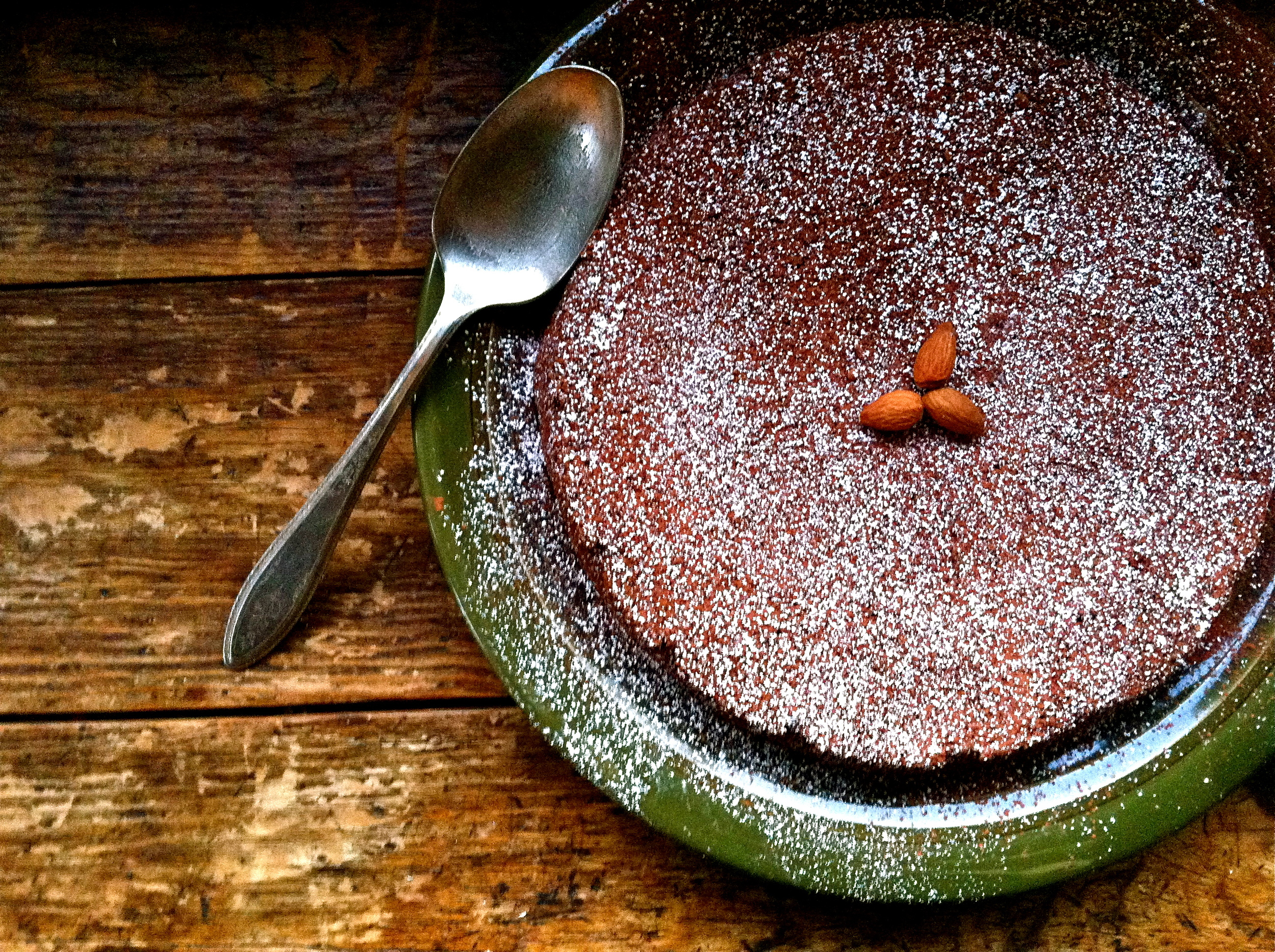 Buckwheat Chocolate Almond Cake at Camp Joy Gardens, Boulder Creek, California