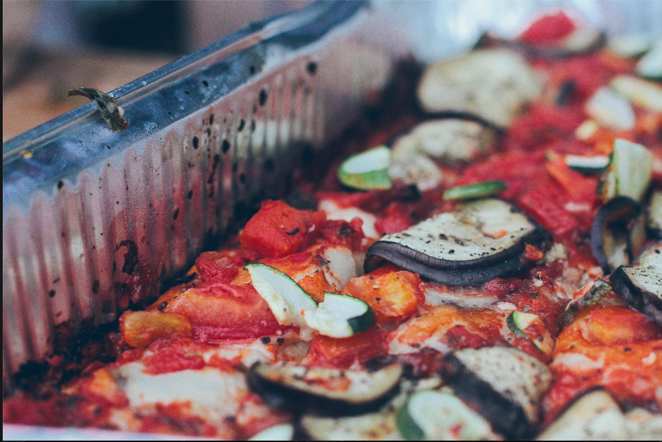 Pizza with local Veggies for LunchPhoto by Breanne Furlong