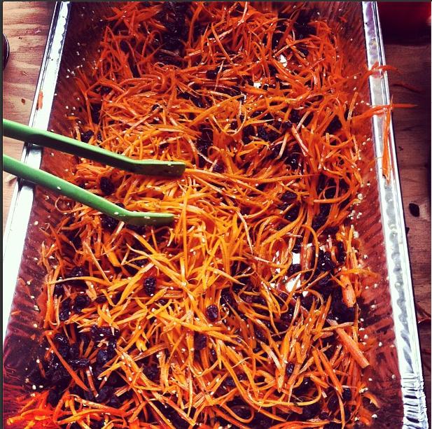 Carrot Raisin Slaw at Lunch time