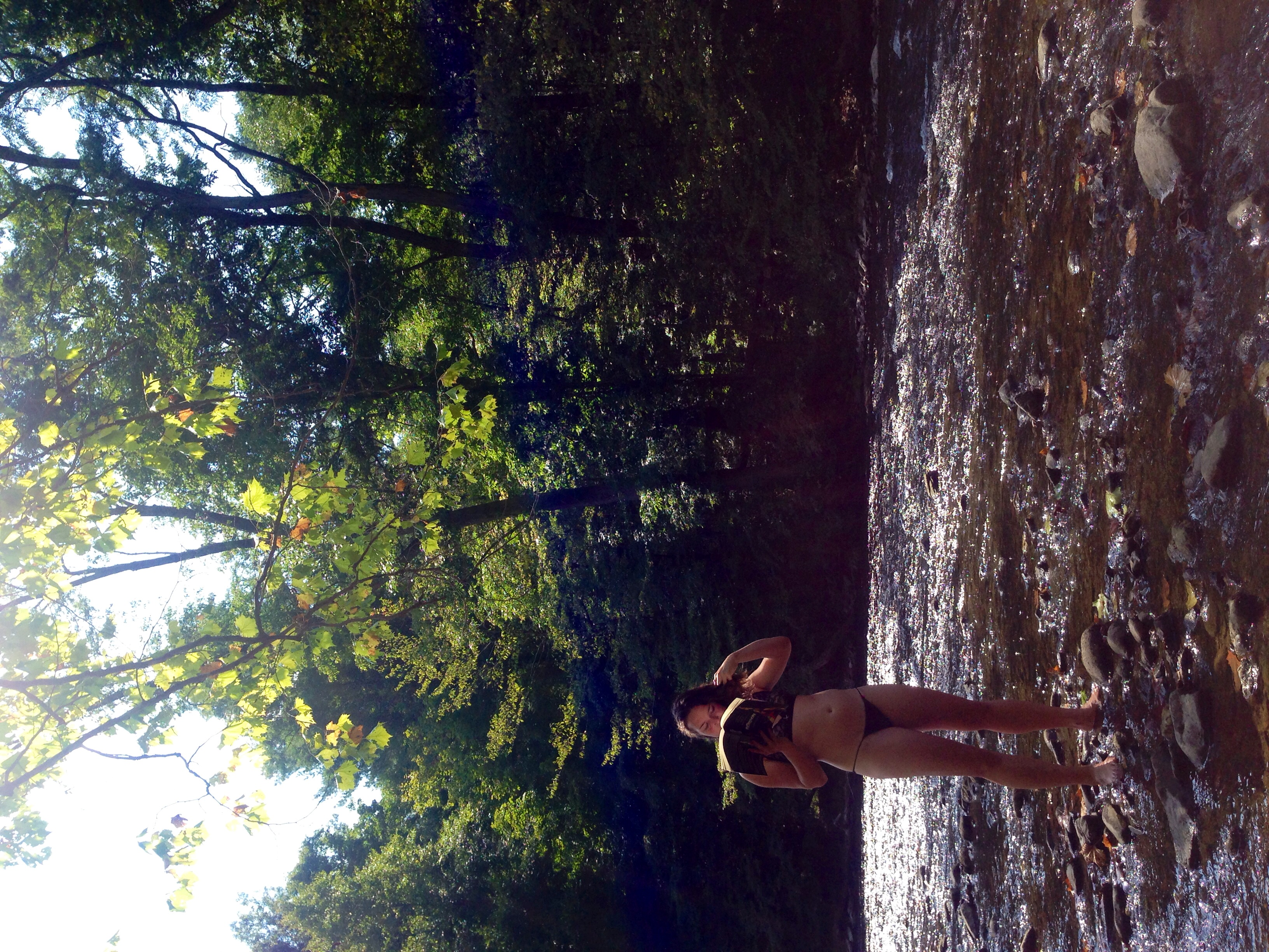 A day off in the creek with Marta- Germantown, New York