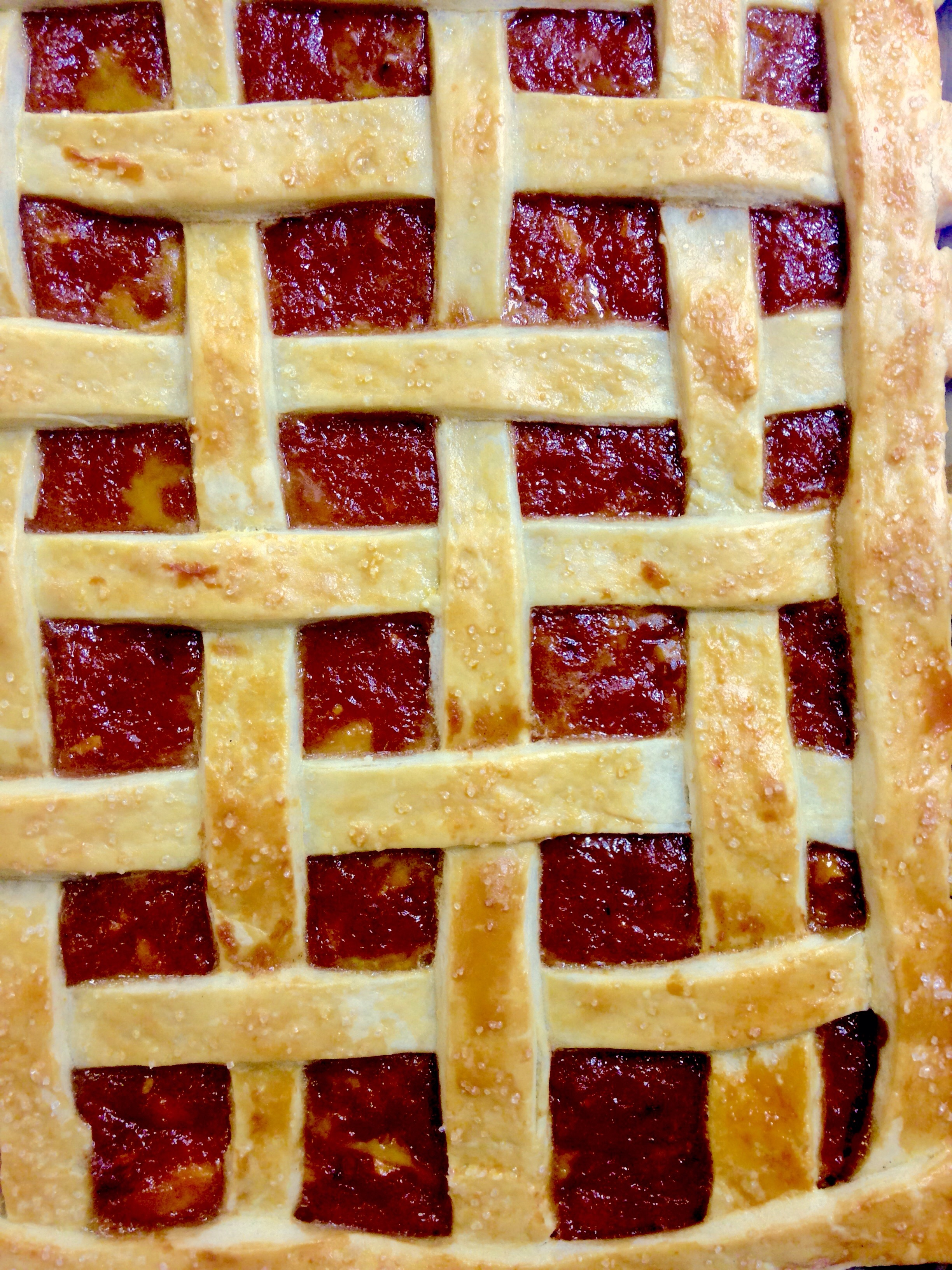 Texas Slab Pie with Spicy Peach Preserves
