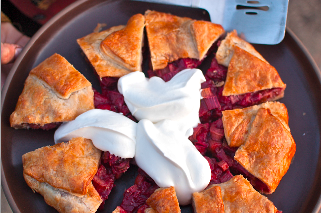 Strawberry Rhubarb Galette by Chef  Mourad Lahlou at McEvoy Ranch Petaluma, California
