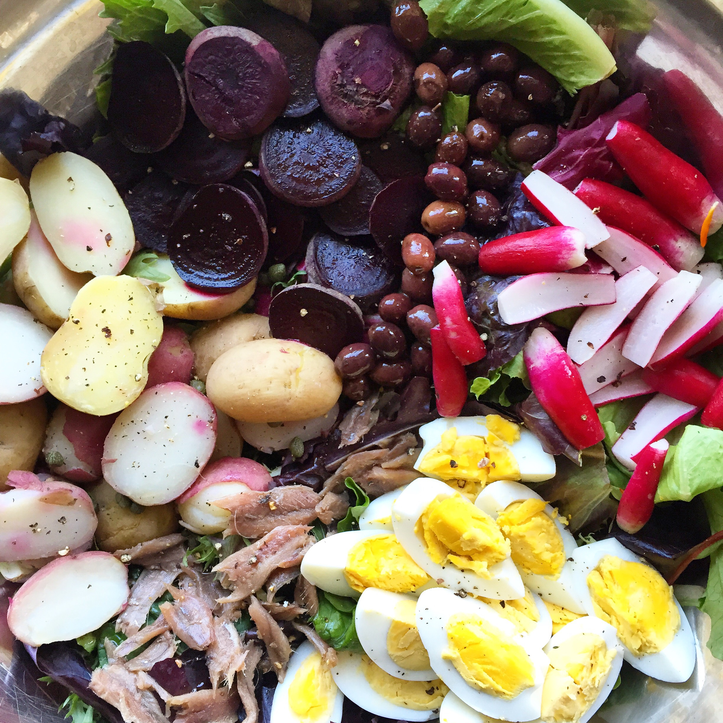 Deanna's Salade Niçoise with Beets and Anchovies