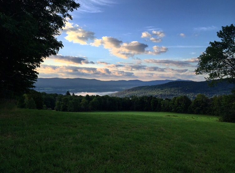 Morning View in Fayston, Vermont at Ploughgate Creamery