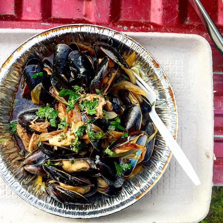 Pemaquid Mussels steamed with Oxbow Beer