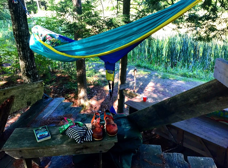 Hammock Hideout at Oxbow// Newcastle, Maine